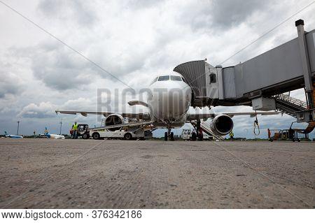 Ukraine, Kyiv - Boryspil International Airport. Airplane F-grhr Airbus A319 Airline Air France. Pass