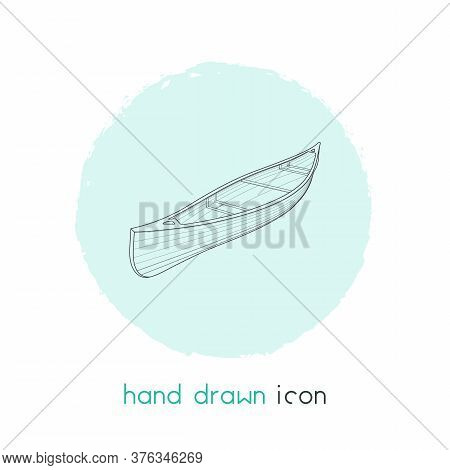 Canoe Icon Line Element. Vector Illustration Of Canoe Icon Line Isolated On Clean Background For You