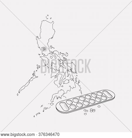 Philippines Icon Line Element. Vector Illustration Of Philippines Icon Line Isolated On Clean Backgr