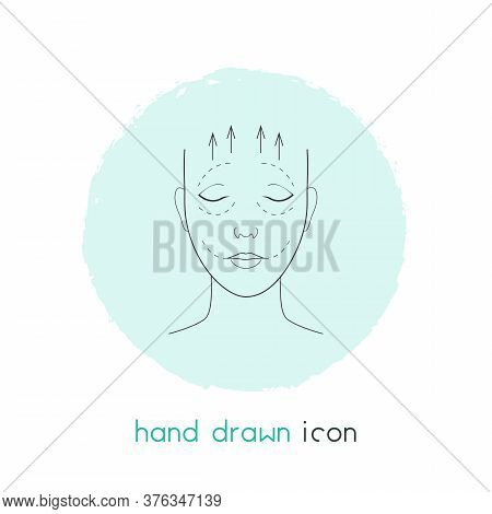Face Lifting Icon Line Element. Vector Illustration Of Face Lifting Icon Line Isolated On Clean Back