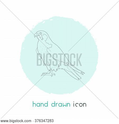 Falcon Icon Line Element. Vector Illustration Of Falcon Icon Line Isolated On Clean Background For Y