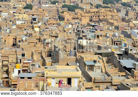 The Golden City As Seen From The Jaisalmer Fort. It Is Believed To Be One Of The Very Few