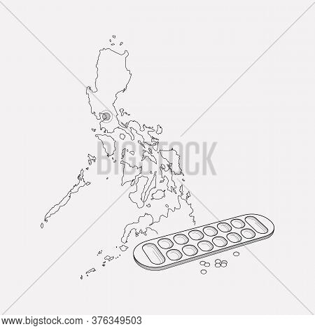 Philippines Icon Line Element. Illustration Of Philippines Icon Line Isolated On Clean Background Fo