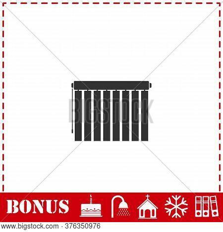 Jalousie Icon Flat. Simple Vector Symbol And Bonus Icon