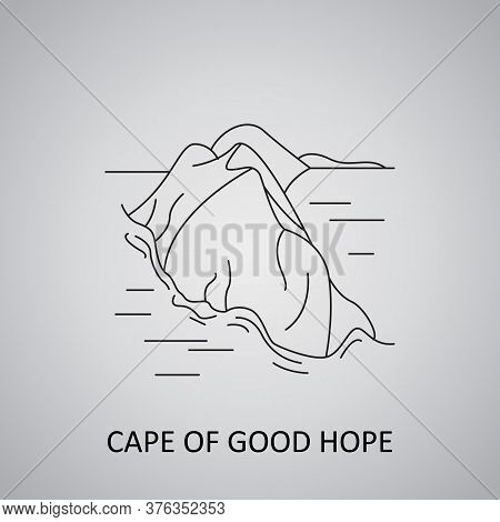Cape Point And Cape Of Good Hope Icon. South Africa
