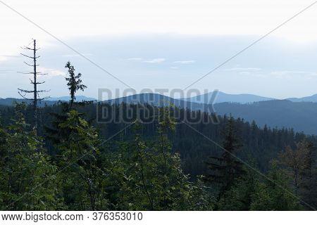 Beautiful Nature Landscape In Beskydy In Eastern Bohemia