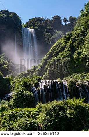 The Marmore Waterfall With Its 165 Meters Of Altitude Difference Is One Of The Highest In Europe