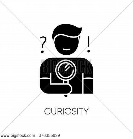 Curiosity Black Glyph Icon