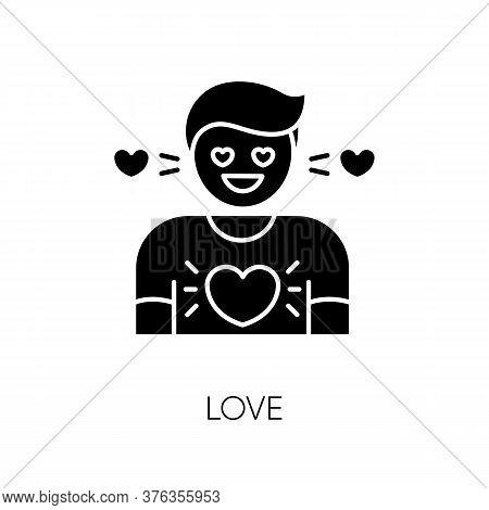 Love Black Glyph Icon