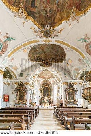 Interior View Of The Church Of St. John In Sigmaringen