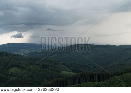 Cloudy Evening In Beskydy Ineastern Bohemia