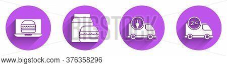 Set Online Ordering Burger Delivery, Online Ordering And Burger Delivery, Fast Delivery By Car And F