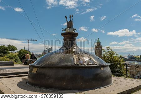 Old Brewing Kettle Converted To A Fountain, Hamburg, Germany