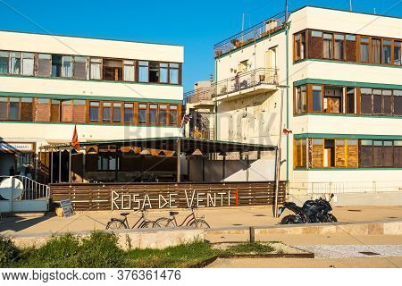 Marina Di Pisa, Italy - August 14, 2019: Della Rosa Dei Venti Restaurant On The Town Waterfront Of M