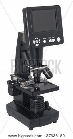 Digital Microscope. Clipping Path.
