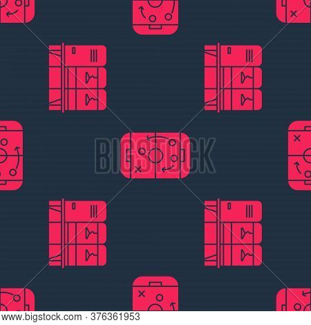 Set Locker Or Changing Room And Planning Strategy On Seamless Pattern. Vector