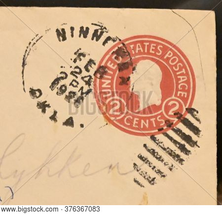 Usa - Circa 1928. A Two Cent Pre-stamped Envelope With Likeness Of George Washington.