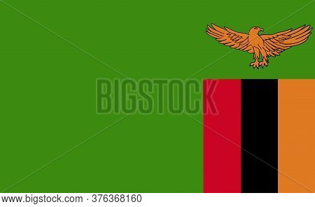 Zambia National Flag In Exact Proportions - Vector