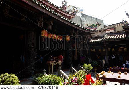 Lukang, Taiwan - October 18th, 2019: Lukang Tianhou Temple, also known as Mazu Temple at Changhua, Taiwan