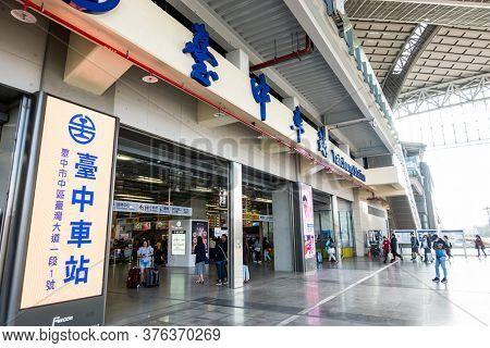 Taichung, Taiwan - November 21th, 2019: Taichung train station, Taiwan