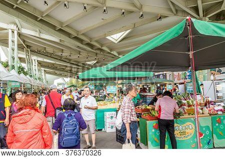 Taipei, Taiwan - October 19th, 2019: Holiday Famer's Market at taipei expo park, Taipei, Taiwan