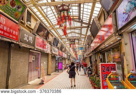 Taipei, Taiwan - October 20th, 2019: Huaxi Street Night Market at Taipei, Taiwan
