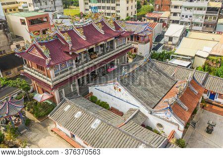 Nantou, Taiwan - September 27th, 2019: famous attraction of Lantian Tutorial Academy at Nantou, Taiwan