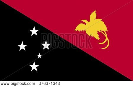 New Guinea National Flag In Exact Proportions - Vector
