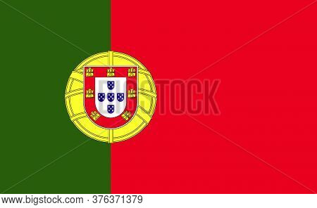 Portugal National Flag In Exact Proportions - Vector