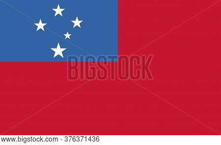 Samoa National Flag In Exact Proportions - Vector