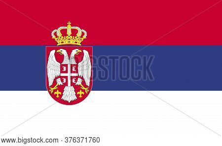 Serbia National Flag In Exact Proportions - Vector