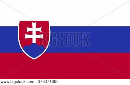 Slovakia National Flag In Exact Proportions - Vector