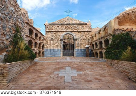 Chapel And Arches With Graves At The Castell Of Polop De Marina, Costa Blanca, Spain