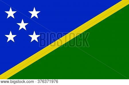 Solomon National Flag In Exact Proportions - Vector