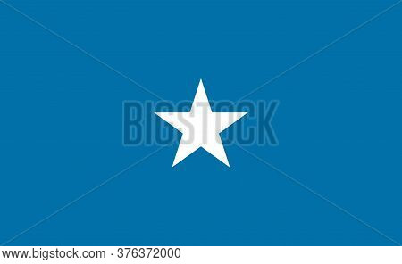 Somalia National Flag In Exact Proportions - Vector