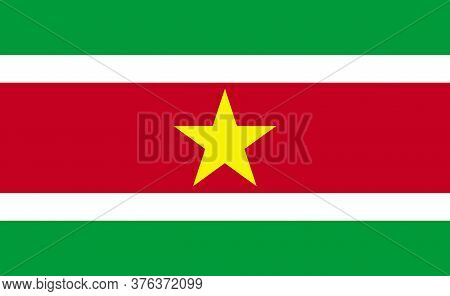 Suriname National Flag In Exact Proportions - Vector