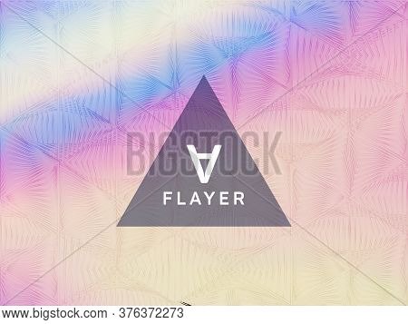 Tech Presentation Holographic Gradient Vector Template. Fluid Shimmer Overlay Elements. Stylish Grad