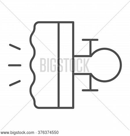Bike Brake Thin Line Icon, Bicycle Concept, Bike Detail Sign On White Background, Bicycle Brakes Ico