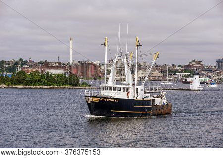New Bedford, Massachusetts, Usa - July 4, 2020: Scalloper Miss Stevie B Ii, Hailing Port Seaford, Va