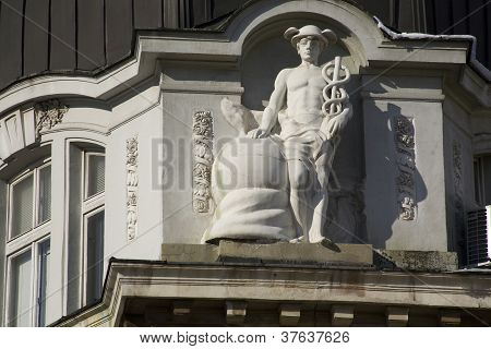 Sofia, the capital of Bulgaria, architectural details from first half of the 20th century