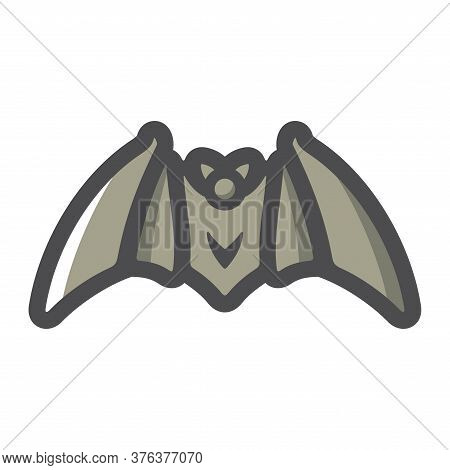 Bat. Flittermouse. Bloodsucker With Wings Vector Cartoon Illustration