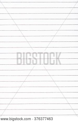 Exercise Book Paper Page With Lines, One Page. Blank Lined Worksheet Exercise Book. Empty Writing No