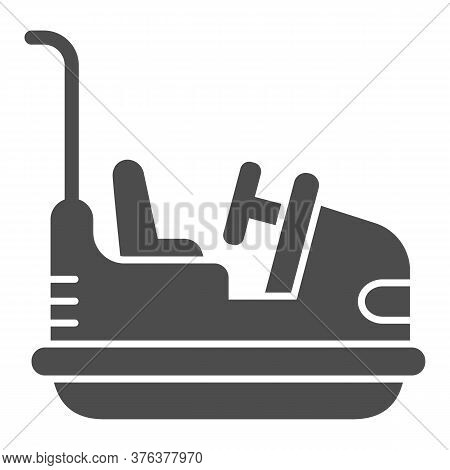 Bumper Car Solid Icon, Amusement Park Concept, Electric Machine For Racetrack Sign On White Backgrou