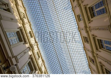 Brussels, Belgium - July 04, 2018: Interior Of The Galeries Royales Saint-hubert In The Center Of Br