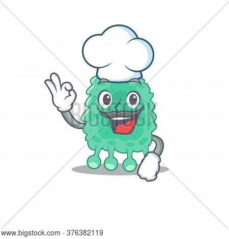 Talented Azotobacter Vinelandii Chef Cartoon Drawing Wearing Chef Hat