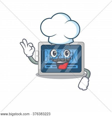 Talented Digital Timer Chef Cartoon Drawing Wearing Chef Hat