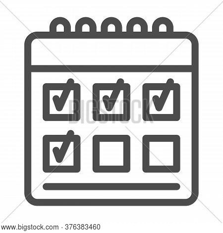 Golf Score Line Icon, Sports And Competition Concept, Scoreboard Sign On White Background, Checked G