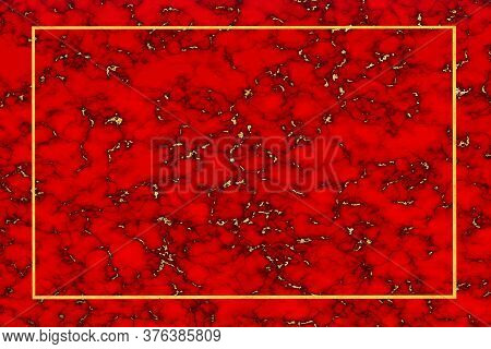 Gold Mineral Granite And Red Marble Golden Border Luxury Interior