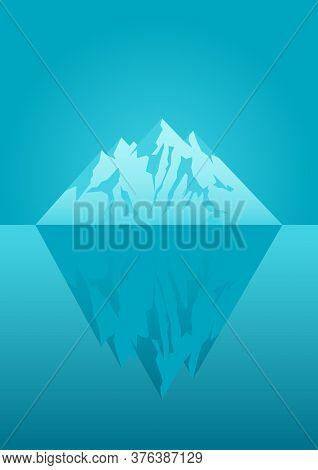 Illustration Of An Iceberg, Concept For Iceberg Principle