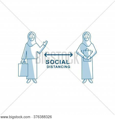 Protection Woman Shopping Face Mask Social Distancing
